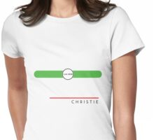 Christie station Womens Fitted T-Shirt