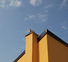 Yellow Building Against Blue Sky, Piran by jojobob