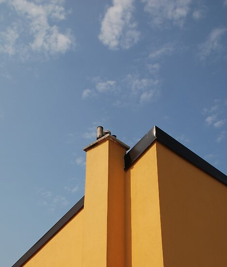 Yellow Building Against Blue Sky, Piran by jojobob