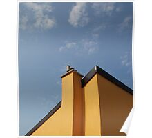 Yellow Building Against Blue Sky, Piran Poster