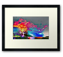One Tree Thrice - DOS Framed Print