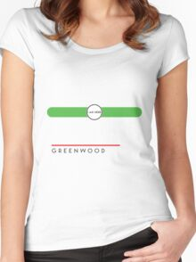 Greenwood station Women's Fitted Scoop T-Shirt