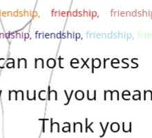 What your Friendship Means to me Sticker