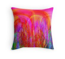 Psychedelic Jungle Throw Pillow