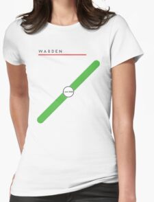 Warden station Womens Fitted T-Shirt