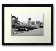 Webb bridge docklands Framed Print