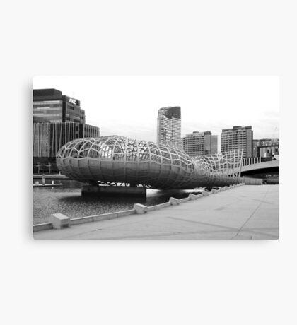 Webb bridge docklands Canvas Print