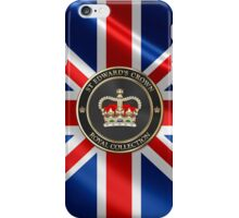 Royal Collection - St Edward's Crown over UK Flag  iPhone Case/Skin