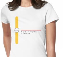 North York Centre station Womens Fitted T-Shirt
