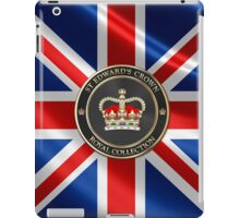 Royal Collection - St Edward's Crown over UK Flag  iPad Case/Skin