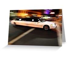 Limo driving Greeting Card