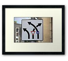 Bizarre Road Signs Framed Print