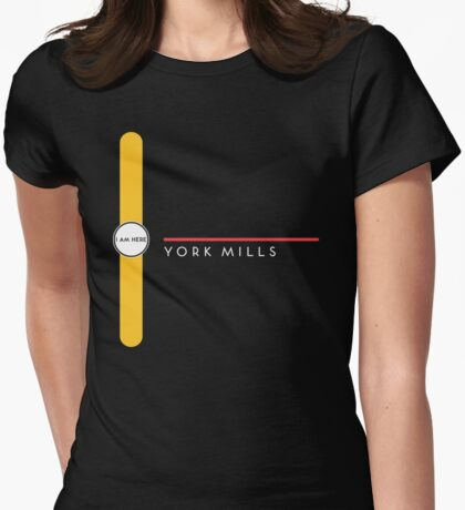 York Mills station Womens Fitted T-Shirt