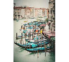 Gondolas on the Grand Canal, Venice Photographic Print