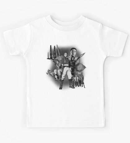 Serenity: The Alliance Strikes Back (black and white version) Kids Tee