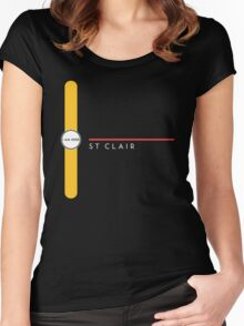 St. Clair station Women's Fitted Scoop T-Shirt