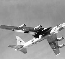 X-15 Mated to B-52 Captive Flight by Space Photo Shop