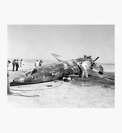 X-15 Crash at Mud Lake, Nevada Photographic Print