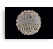 slovak coins Canvas Print