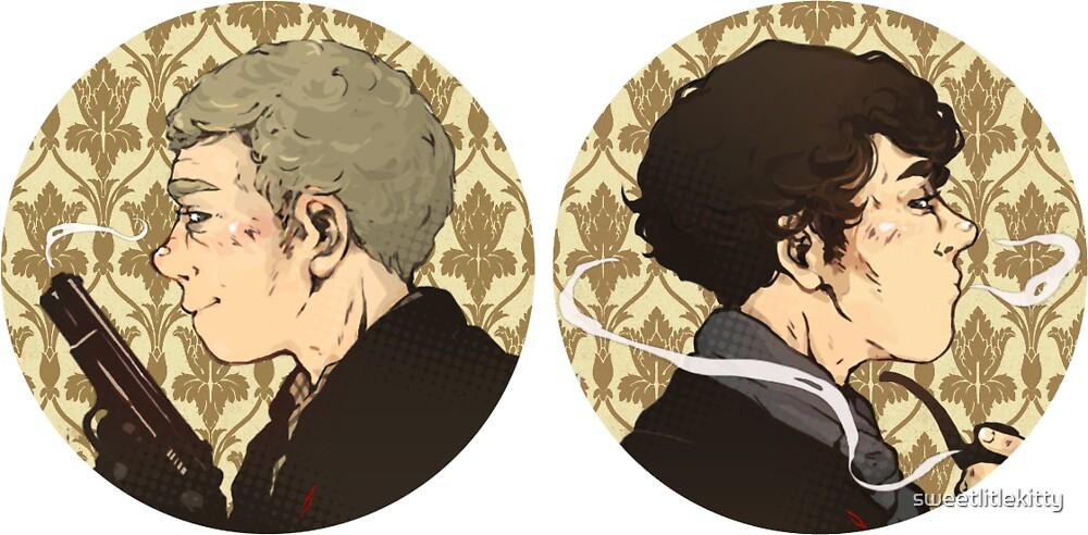 Sherlock & Watson by sweetlitlekitty