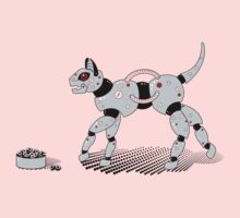 Feed Your Robot Cat (Red Eyes) Kids Clothes
