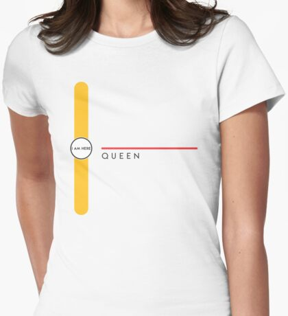 Queen station Womens Fitted T-Shirt