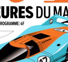 Le Mans Porsche 917 Sticker