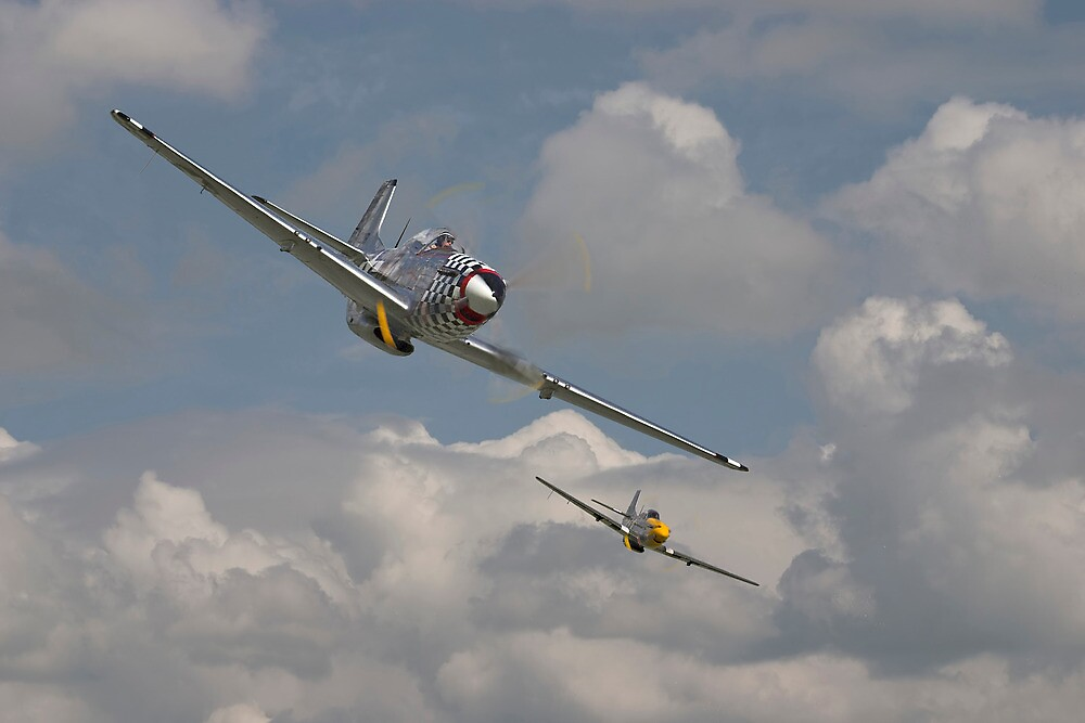 P51 Mustang Pair by Pat Speirs