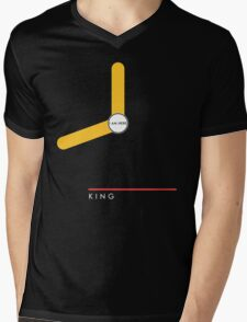 King station Mens V-Neck T-Shirt