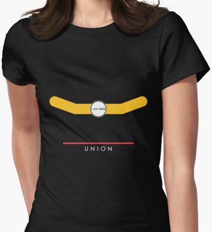 Union station Womens Fitted T-Shirt