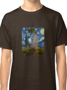 Monet Umbrella on a Starry Night Classic T-Shirt