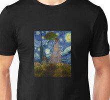 Monet Umbrella on a Starry Night Unisex T-Shirt