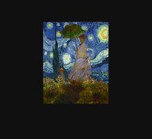 Monet Umbrella on a Starry Night T-Shirt
