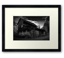 Old Abandoned Barn Framed Print