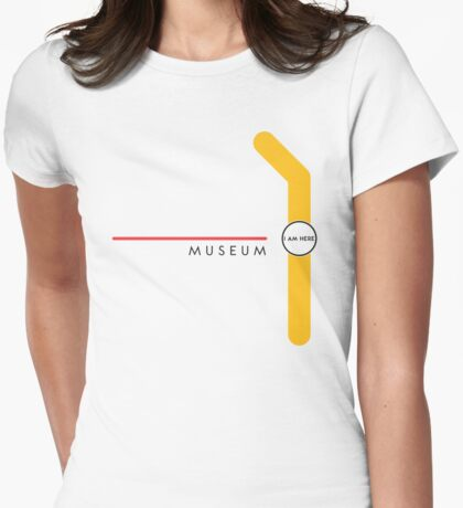 Museum station Womens Fitted T-Shirt