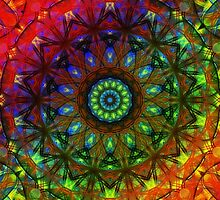 Rainbow Mandala by shoffman