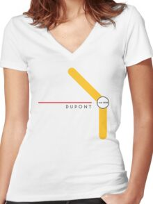 Dupont station Women's Fitted V-Neck T-Shirt