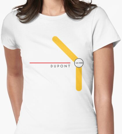 Dupont station Womens Fitted T-Shirt