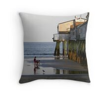 Pier at Old Orchard Beach, Maine  Throw Pillow