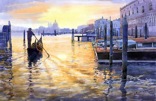 Italy Venice Dawning by Yuriy Shevchuk
