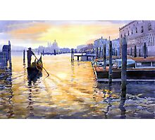 Italy Venice Dawning Photographic Print