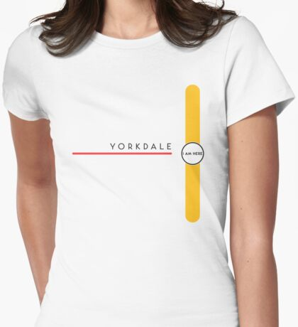 Yorkdale station Womens Fitted T-Shirt