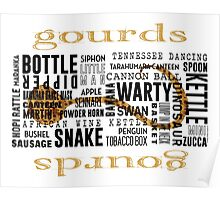Gourd Typography 2 (Light Background) Poster
