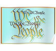 Gold and Blue-We The People Poster
