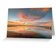 Sunset at Long Jetty. Greeting Card
