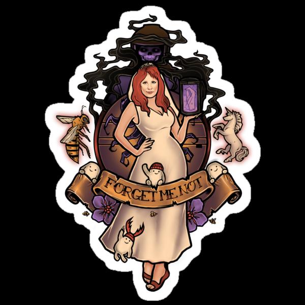 Forget Me Not - Sticker by MeganLara
