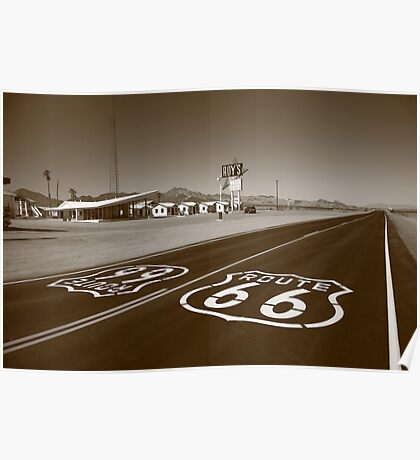 Route 66 - Amboy, California Poster