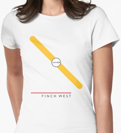 Finch West station Womens Fitted T-Shirt