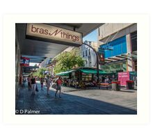 Rundle Mall - Looking down the Mall  Art Print