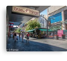 Rundle Mall - Looking down the Mall  Metal Print